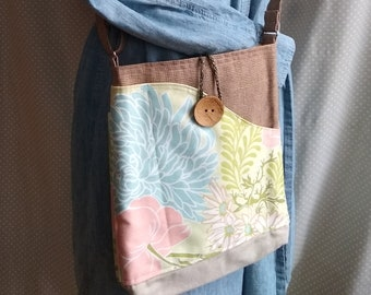 whimsical. quality construction Floral geometric Fun and Beautiful Designer fabrics Messenger-Crossbody bags stripe unique styles