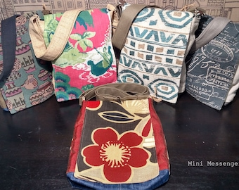 f1b4f55af2 Messenger-Crossbody bags. Fun and Beautiful. Designer fabrics