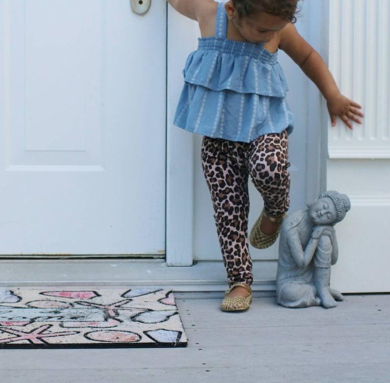 20407784785d7 Baby girls leopard print leggings baby girl pants cheetah | Etsy