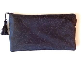 Black Clutch, black glitter clutch, black purse, brides purse, bridesmaid gift, evening bag, bridal clutch,Mother's Day, Prom, wedding
