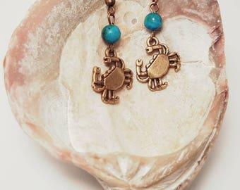 Eastern Shore Crab Earrings