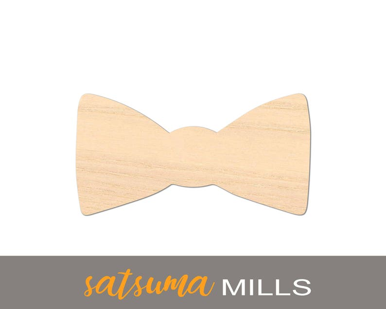 Bow Tie Wood Laser Cutout Volume Discounts DIY Crafts image 0