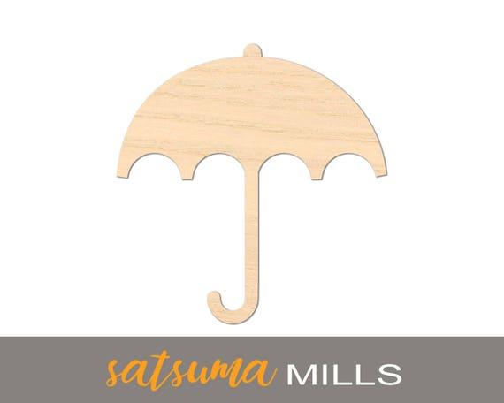 /& Gifts DIY Crafts Umbrella Wood Laser Cutout; Volume Discounts Decor