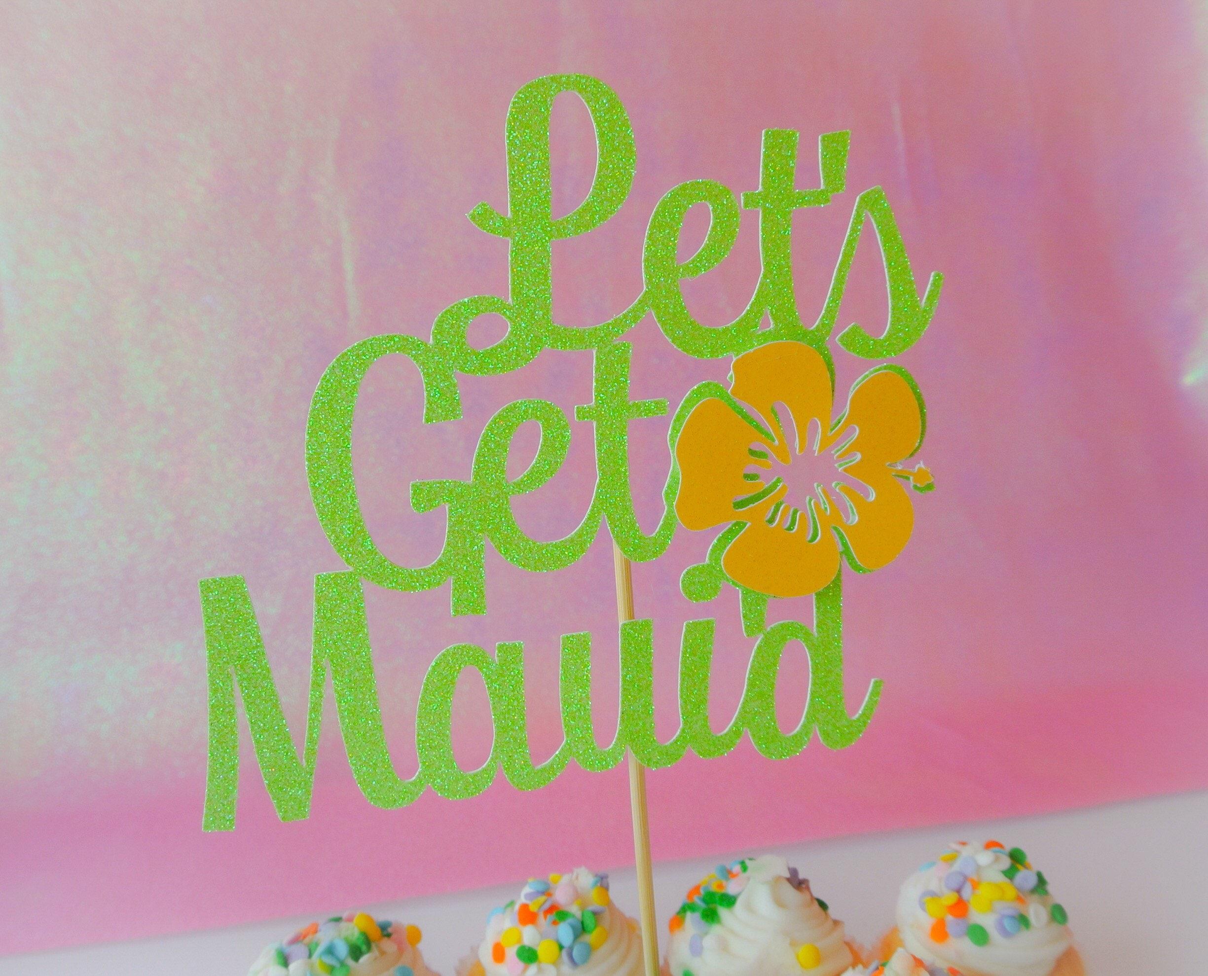 Lets get maui\'d Cake topper. Wedding cake topper. Bridal | Etsy