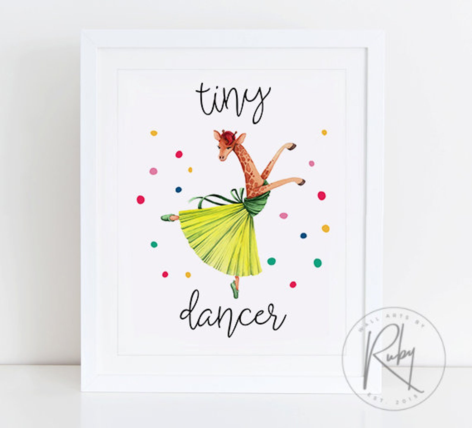 tiny dancer, print, printable, sign, poster, nursery decor, nursery wall art, ballet shoes, ballerina, girls room, wall art, gir