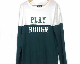 a094a5905 BEAMS Japan Play Rough Color Block L/Sleeved T-Shirt Size L