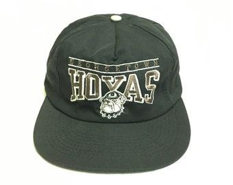 32ced10c22d Vtg Georgetown Hoyas NCAA Baseball Snapback Cap OSFA NWOT
