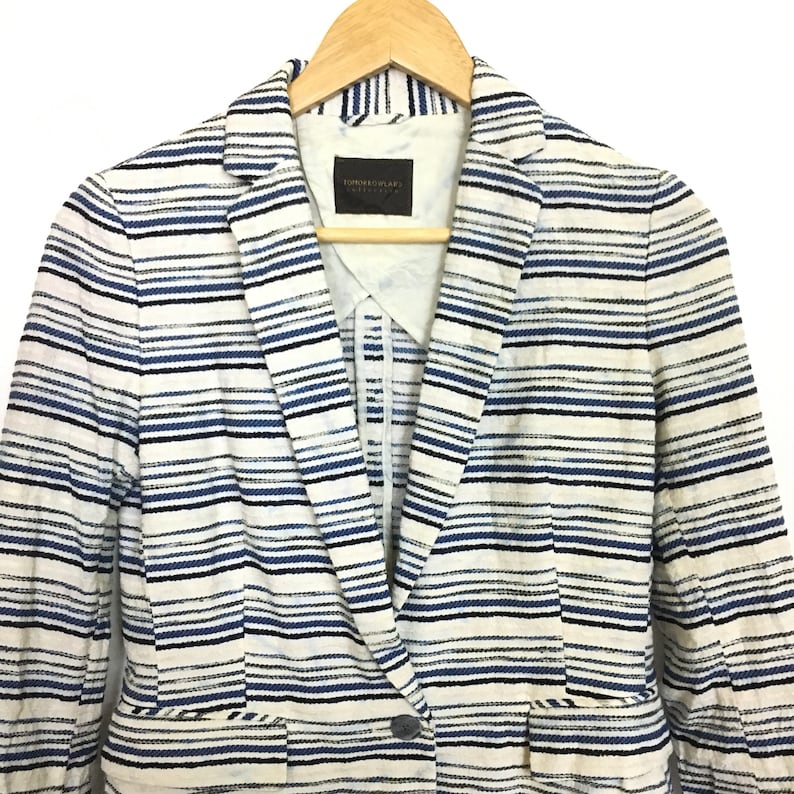 Women/'s TOMORROWLAND Collection Striped Sport Jacket Size 38