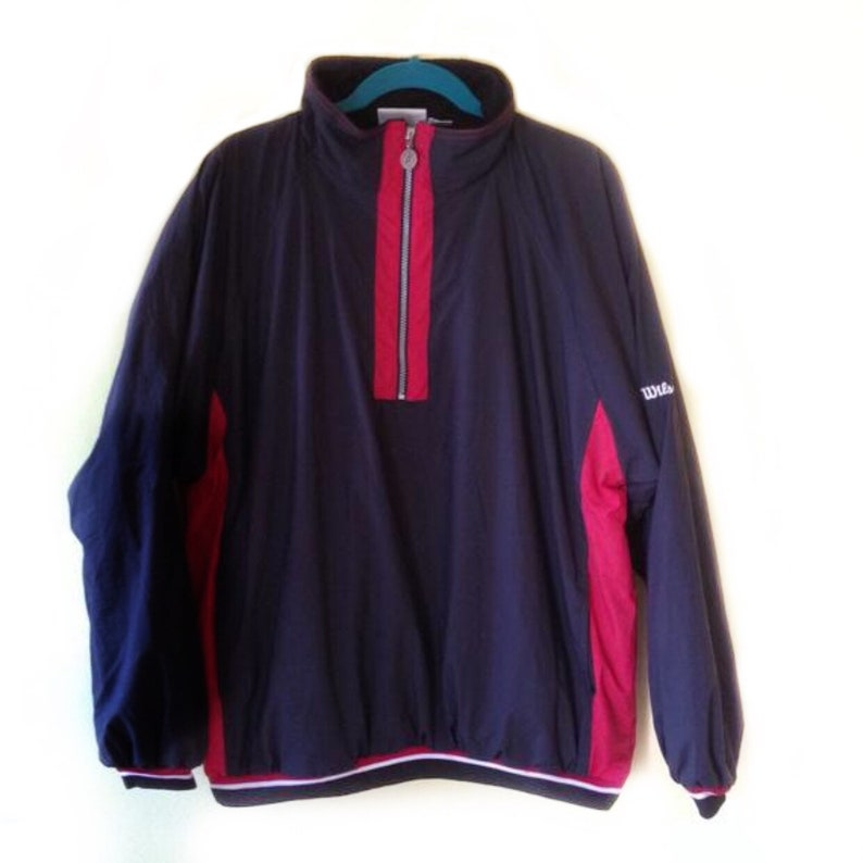 Vtg Wilson Advantage 14 Zip Pull Over Windbreaker Jacket Size M