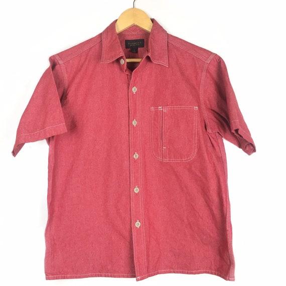 Radmess Men's Bigi Japan Denim Red Shirt Size L