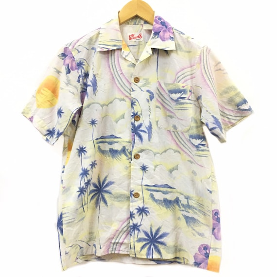 Vtg Sunbums Aloha Hawaiian Shirt