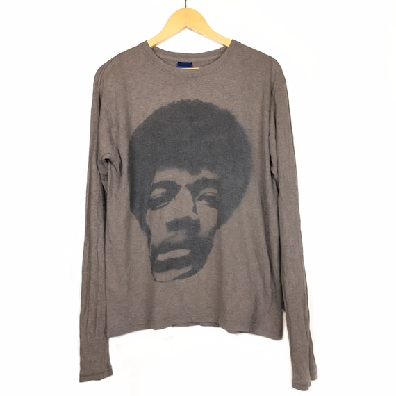 Jimi Hendrix Photo Long Sleeve T-Shirt Size M/L