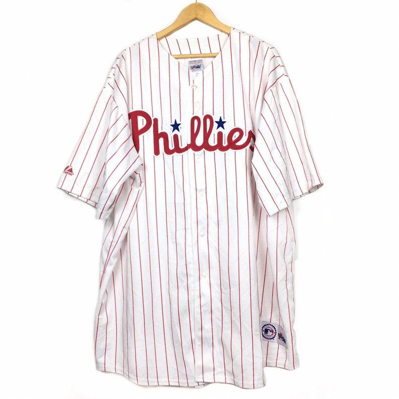 79b9c6dd Majestic Philadelphia Phillies Baseball Jersey Size 4XL   Etsy