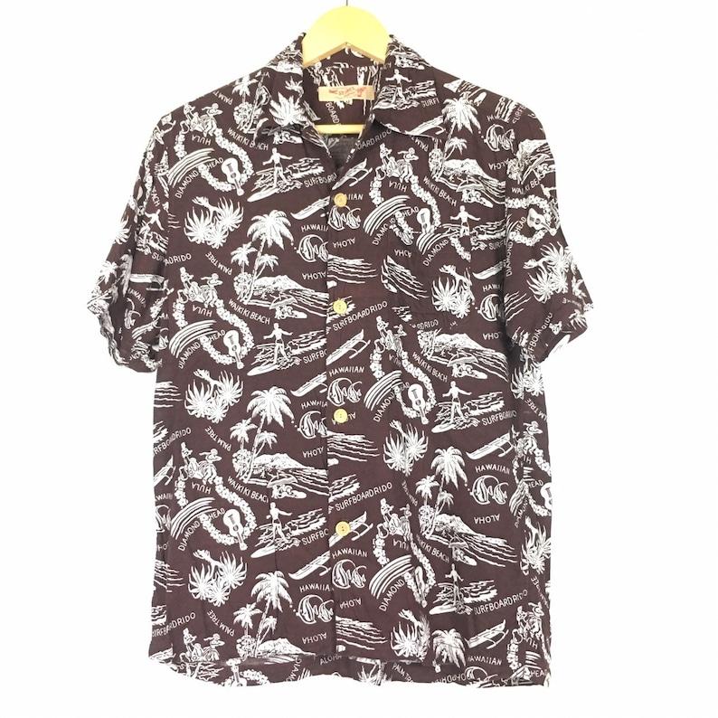 8a154374 Vtg Avirex Hawaian Aloha Shirt Size M | Etsy