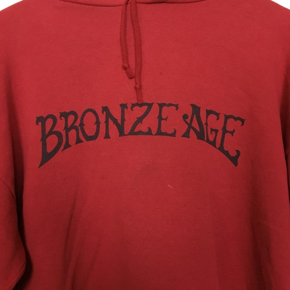 Sweater Hoodie Vtg Size BRONZE Skate XL Sweatshirt Pull Venice Surf Over AGE Beach fO1BfxgF