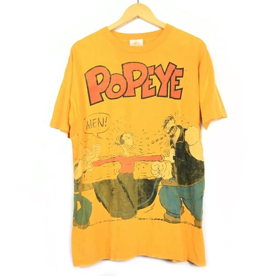 Vtg 90's Popeye The Sailor Man Comics T-Shirt