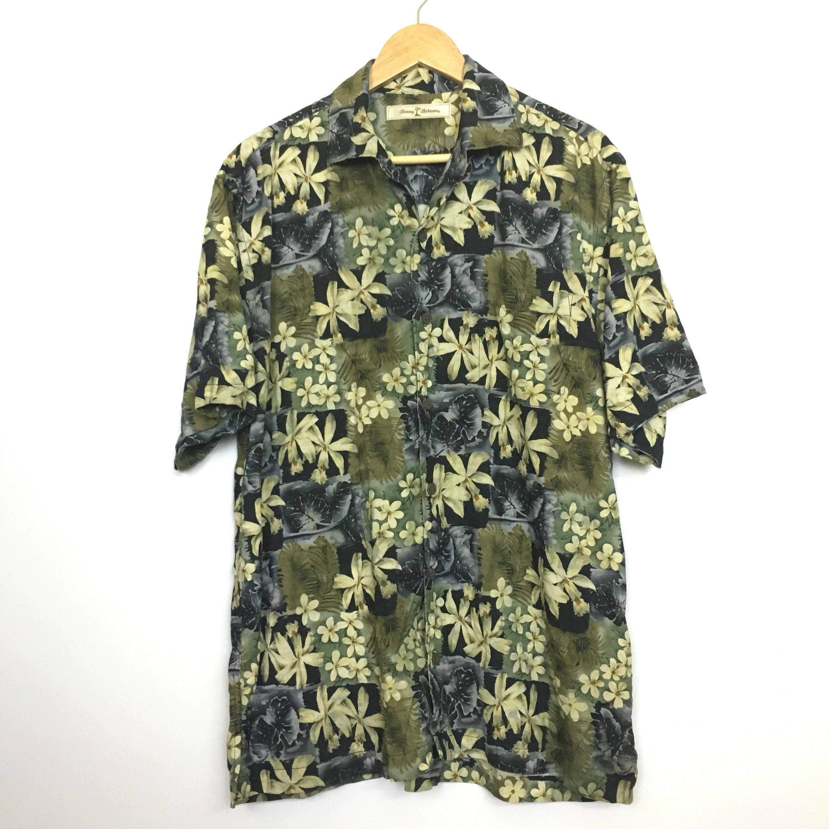 c0af5a6c Tommy Bahama Aloha Floral Hawaiian Tropical Rayon Shirt Size M | Etsy