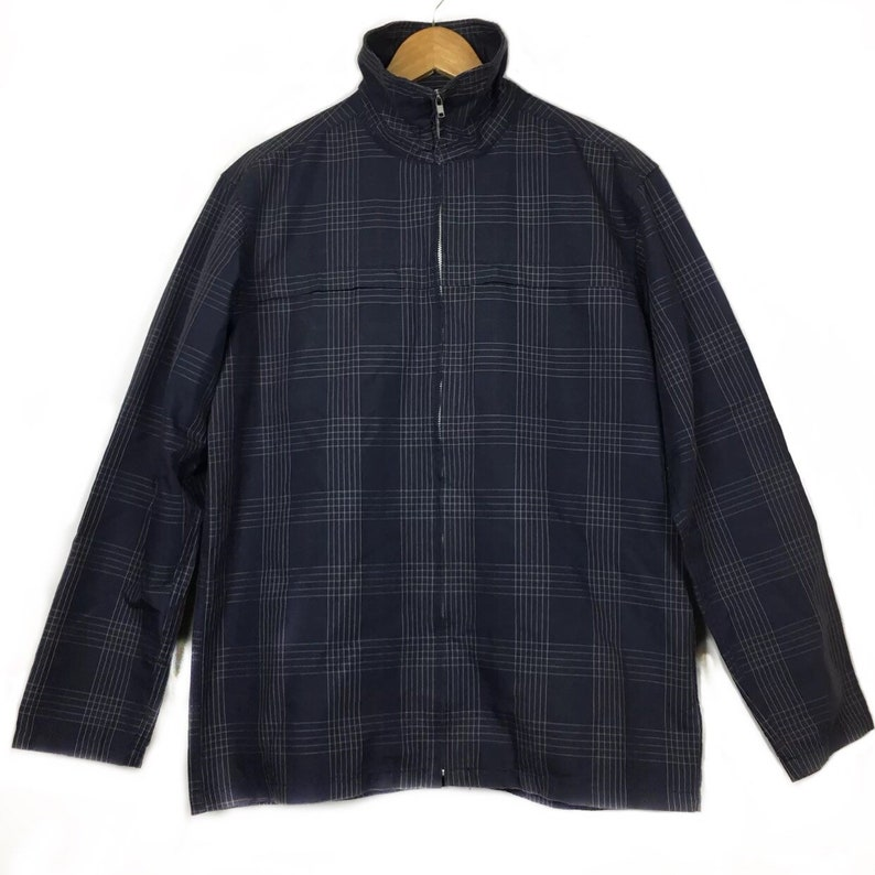 bb7e9d89478c7 Beams Japan Tartan Plaid Windbreaker Jacket Size L