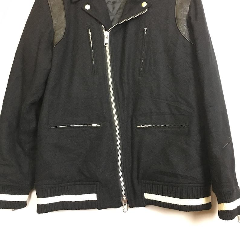 Whiz Limited Japan Wool Moto Jacket Size L