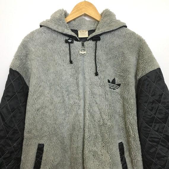 Vtg Adidas Zipped Up Fleece Coach Jacket Sweater Size M Etsy