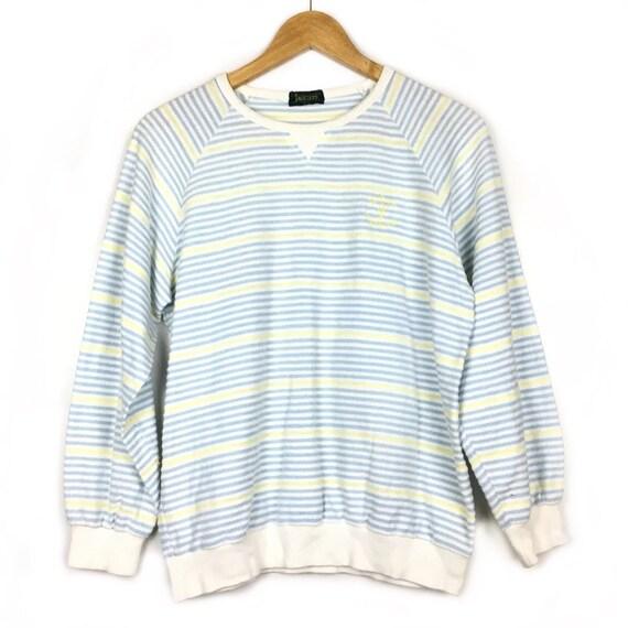 Vtg Jantzen Striped Crewneck Sweatshirt