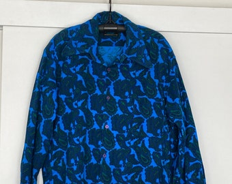 "Mens 1970's Blue Paisley shirt ""Mustang by Convair"" brand"