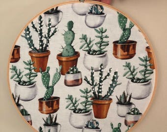 Cacti or Cactuses? Embroidery Hoop