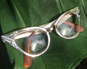 Cat Eye Glasses, Cat Eye Glasses Frames, Vintage Cat Eye Glasses, Vogue Cat Eye, Silver Cat Eye Glasses, Rockabilly Glasses, Pin Up, Retro