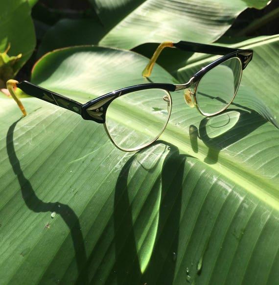 Black Cat Eye Glasses, Cat Eyeglasses, Vintage Eye