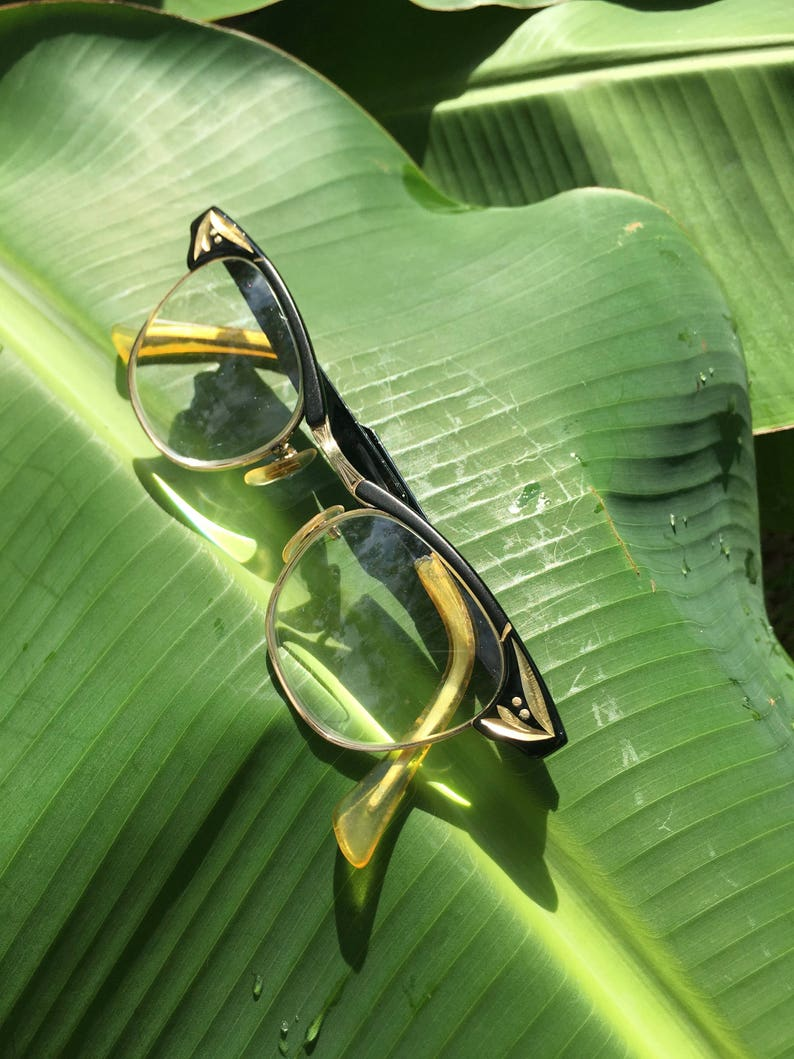 d951baa83b Gato negro gafas gafas de gato gafas Vintage U.S. óptico | Etsy