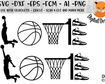 Basketball Hoop Svg Etsy