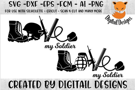Love Army Svg Png Dxf Eps Ai Fcm Cut File Etsy