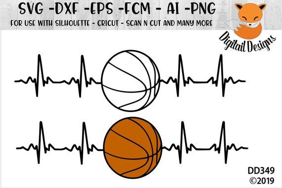 Basketball Ekg Svg Png Fcm Eps Dxf Ai Cut File Etsy