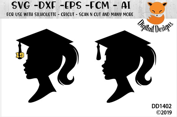 Graduation Girl Silhouette Svg Png Dxf Eps Ai Fcm Etsy