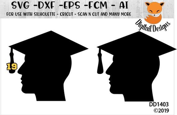 Male Graduation Silhouette Svg Png Dxf Eps Ai Fcm Etsy