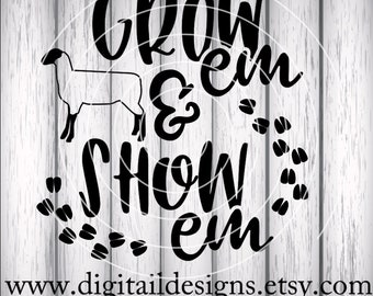 Sheep SVG - png - dxf - eps - fcm - ai - Cut file - Silhouette - Cricut - Show Sheep SVG - Lamb - State Fair SVG - Livestock svg