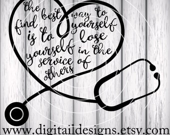 Stethoscope Heart SVG - Stethoscope Love - png - dxf - eps - fcm - ai - Cut file for Silhouette - Cricut SVG - Medical SVG - Heart Cut File