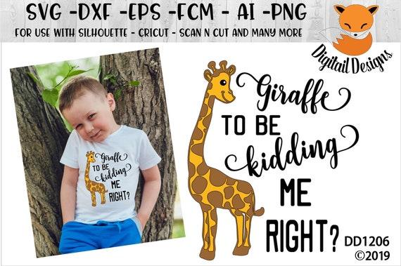 Giraffe Svg Dxf Png Eps Ai Fcm Cut File Etsy