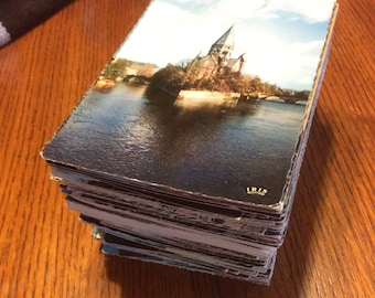 Vintage postcards lot 12 unused mixed mystery cards unwritten for letter writing, collecting historical sites usa canada germany europe uk