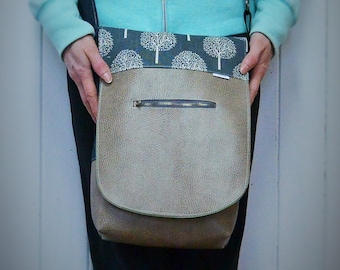 Available bag / satchel / handbag / satchel / faux leather / vintage / linen / tree / shoulder bag