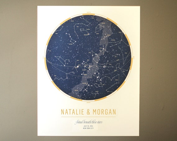 THE ORIGINAL Custom Star Map: Celebrate a wedding or | Etsy