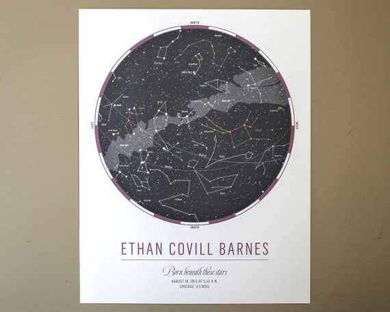 THE ORIGINAL Custom Star Map: Celebrate a child's birth | Etsy