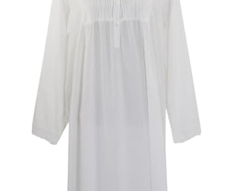 692c2d0a992 Womens Handmade Victorian Style White Cotton Embroidered Nightgown- Tucking  Details