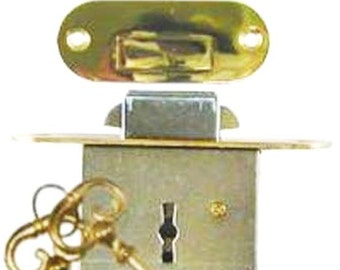 Rounded Plates NEW Roll Top Desk Lock Set