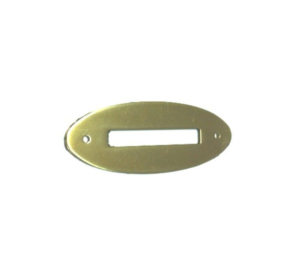 """SOLID BRASS OVAL COIN SLOT 2 1//4/"""" X 7//8/""""  B9852"""