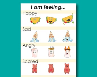 My First Funny Food Feelings Chart