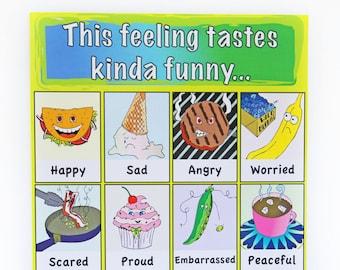 Funny Food Feelings Chart