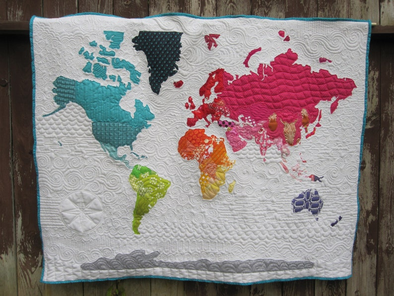 World Map Quilt Pattern.World Map Quilt Pattern Etsy