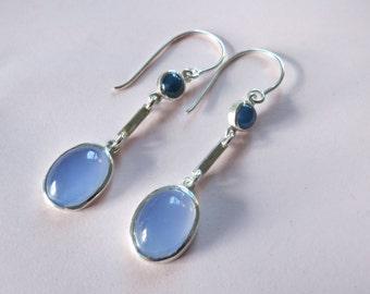 """Boucles d'oreilles """"Le Grand Bleu"""""""