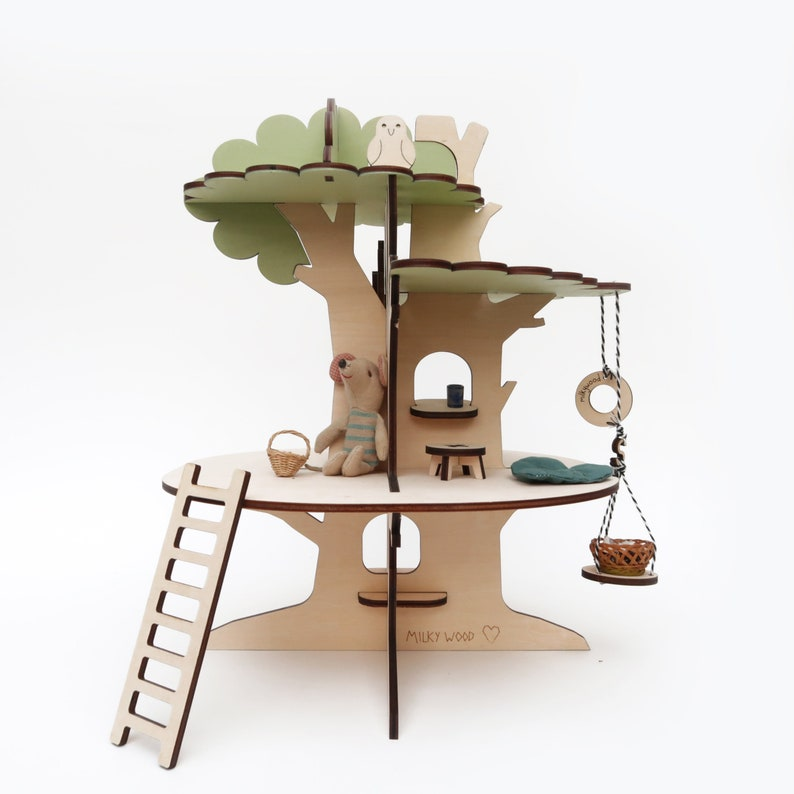 Tree-house original wooden Milkywood doll house to play with image 0